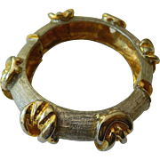 K.J.L. signed-Kenneth J. Lane clamper bracelet