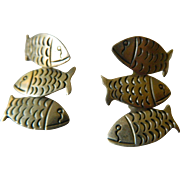 "Sterling ""Fish"" earrings"