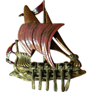 Ancient ship- Pin