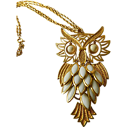 Double chain- Dangling Owl pendant Necklace