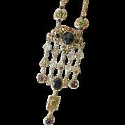 Fabulous large dangling pendant- Necklace