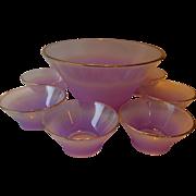 Amazing-purple color- West Virginia glass- Bowl serving set