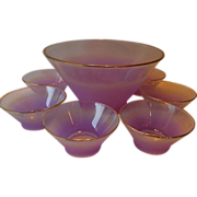 Amazing-purple color- West Virginia glass- Bowl serving set