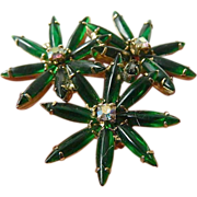 Poured glass stones- 1940's Pin