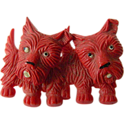 1920-1930's celluloid- Dogs with movable heads-Pin