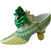 "Limoges-""Shoe"" series of Limoges trinket boxes"