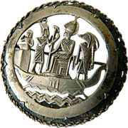 silver- Egyptian -1920-1930- Pin