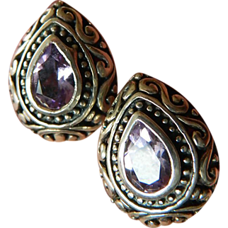 Sterling and Amethyst earrings