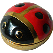 Enameled lady bug-Pill box