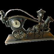 Mid century Desk clock- Moving parts
