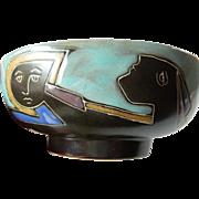 "Exquisite hand crafted Art bowl- "" Luisa Torres- ""Mara"" signed"