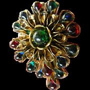 Vintage Glass beads-Dress/fur clip