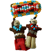 Charming-Native American-beaded Pin