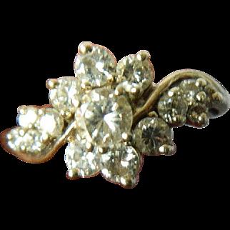 Brilliant diamond-White gold ring