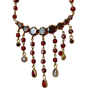 Vintage garnet Necklace-SALE!