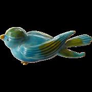 signed- Robert-Blue bird Pin