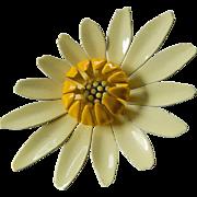 1950-1960 Big enameled Flower pin