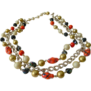Very sweet Multi strand- 1950's necklace