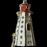 """Enameled """"lighthouse"""" Pin"""