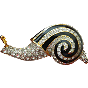 Jeweled and enameled-Snail pin