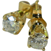 Brilliant and beautiful pair of 14k and Diamond earrings