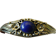 Sterling-lapis bracelet