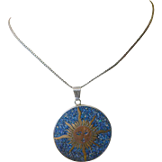 Taxco-signed- Large pendant with Chain
