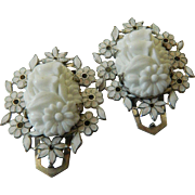 Charming two- molded glass fur clips