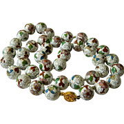 Beautiful porcelain cloissone Beads
