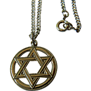 Sterling chain -Pendant-Star of David