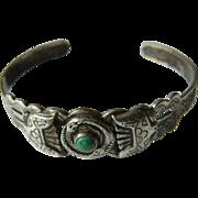 Silver Native American- cuff Bracelet