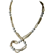 Natural stone-Asian beads necklace