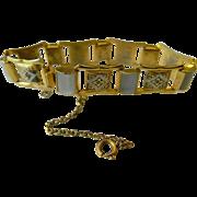 Damascene-MOP- link bracelet