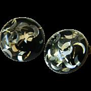 1950's -Lucite confetti Earrings