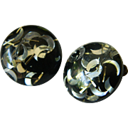 1950's -Lucite confetti Earrings