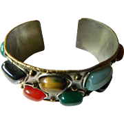 Big and Bold-Large natural stones-Cuff bracelet