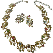 "Lovely old ""Coro"" necklace with Earrings"