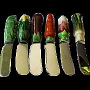 Bonwit- Teller-Ceramic cheese spreaders-Made in Paris France