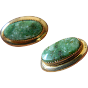 Gold filled -Jade earrings