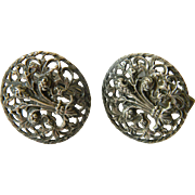 Mexican silver-Cuff links