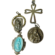 Religious charms-Sterling