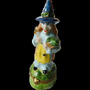 Halloween witch-Limoges figurel Trinket box