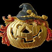 Signed J.J. Halloween Pumpkin pin