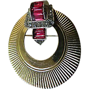 signed Boucher-Jeweled pin