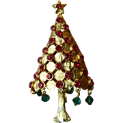 Sparkling signed-Mylu Christmas tree Pin