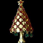 Sparkling signed-Mylu Christmas tree Pin