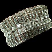 dazzling-glass stones- Vintage bracelet