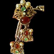 Selro-Jeweled bolo necklace