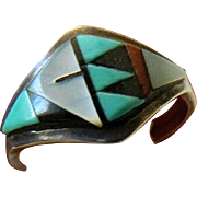 Inlaid Zuni-Sterling ring