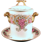 Hand Painted Condensed Milk Container , GDA France